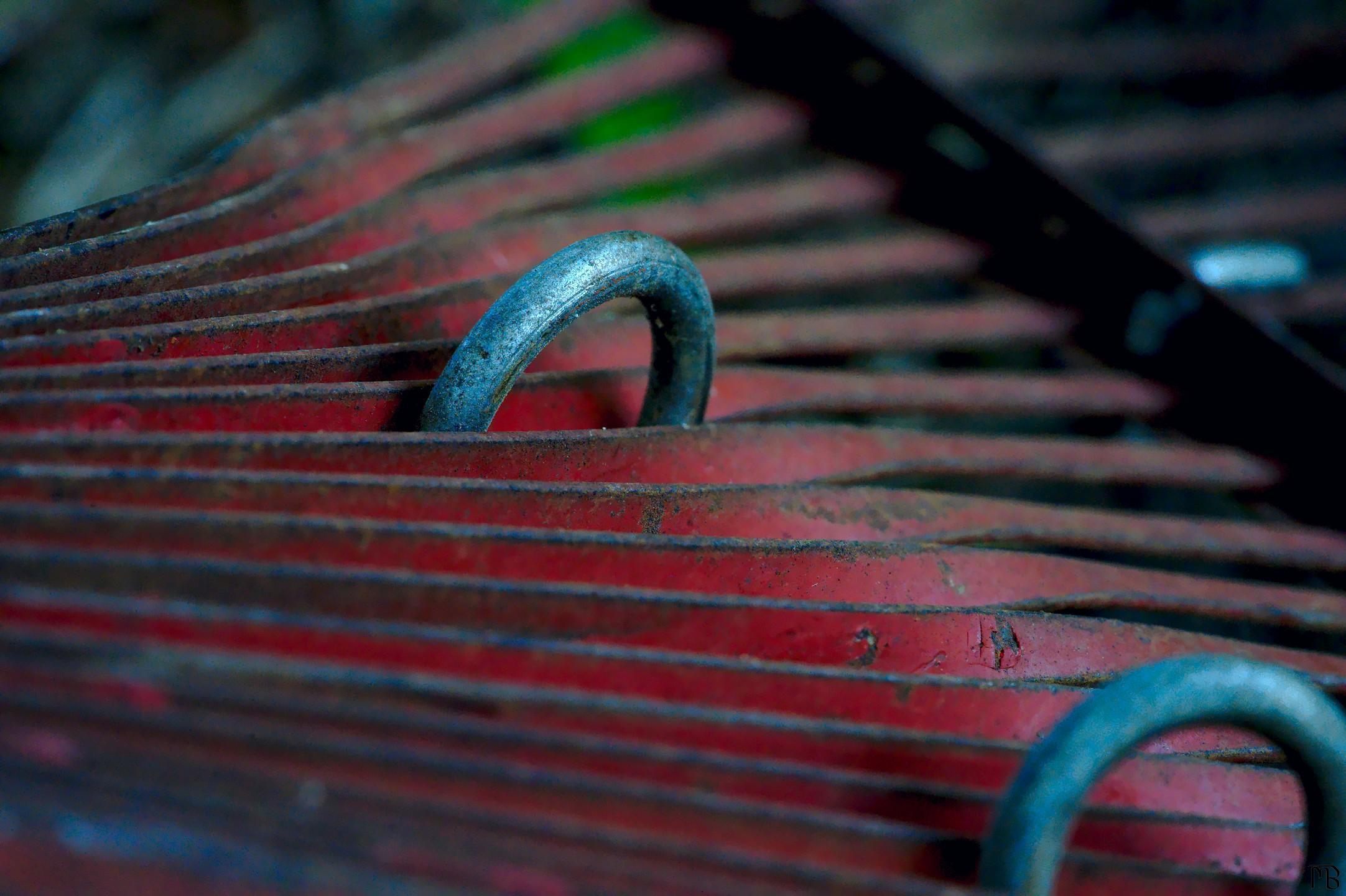 Close-up of rake