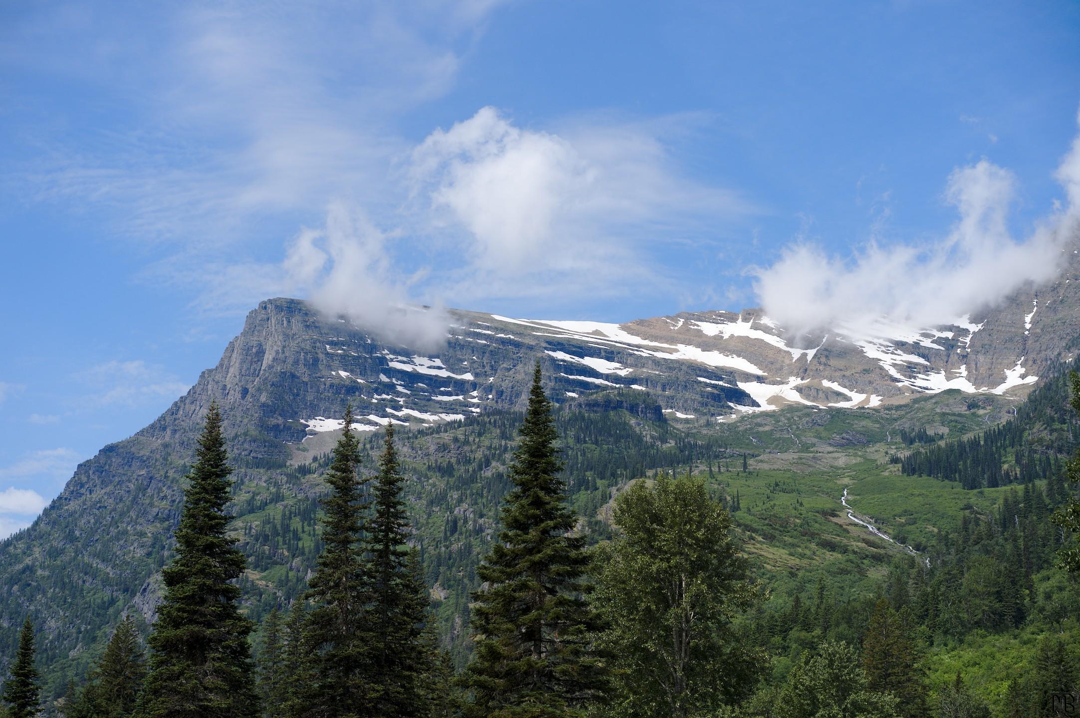 Mountain in Glacier National Park