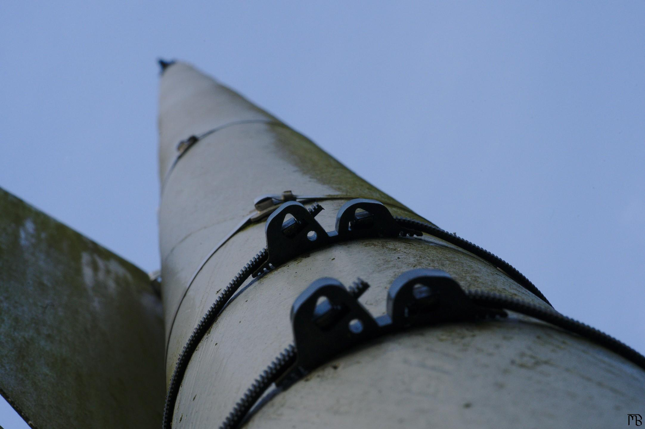 Pole on sign